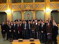Besuch der Nationalversammlung Norwegens