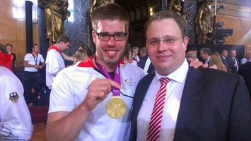 Bergedorfs Goldmedaillen-Gewinner Eric Johannesen und Dennis Gladiator