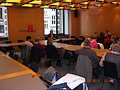Besuchergruppe im Hamburger Rathaus