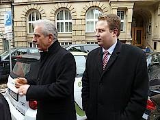 Ministerpräsident Stanislaw Tillich und Dennis Gladiator